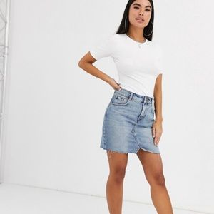 Asos petite denim skirt. New without tags